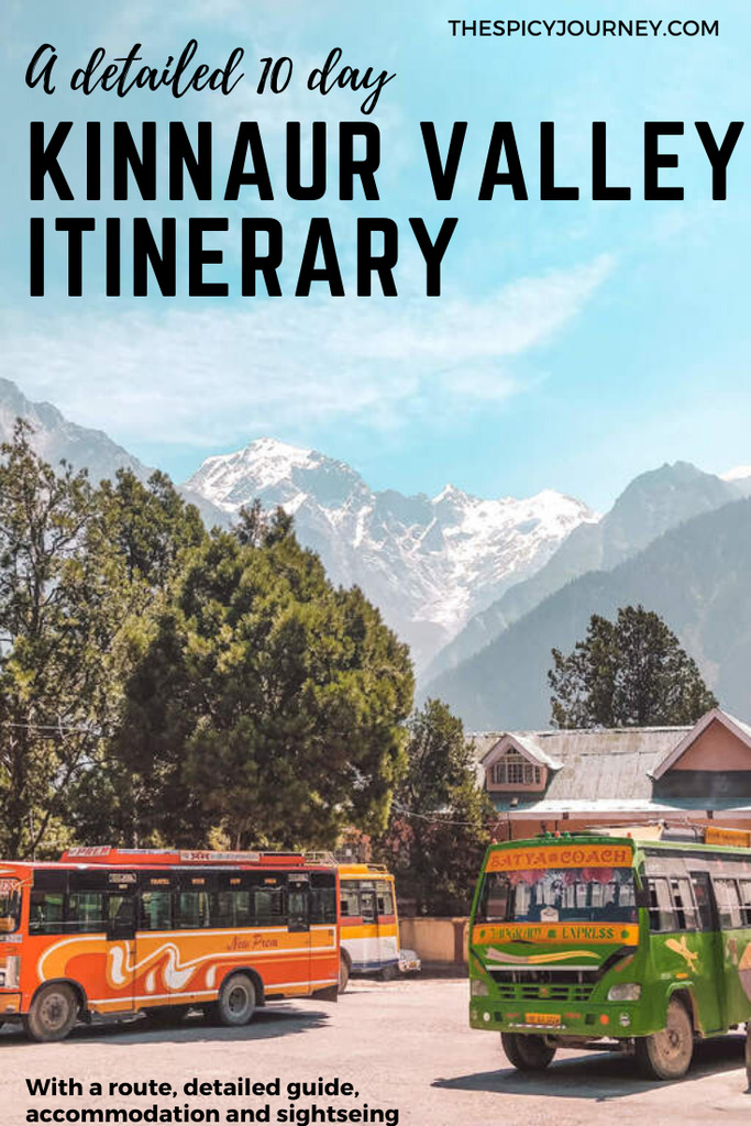 Pinterest graphic for Kinnaur valley travel guide and itinerary