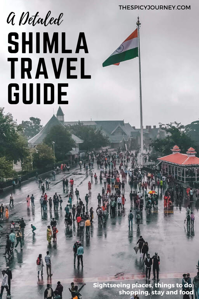 Pinterest graphic for Shimla itinerary and Shimla travel guide