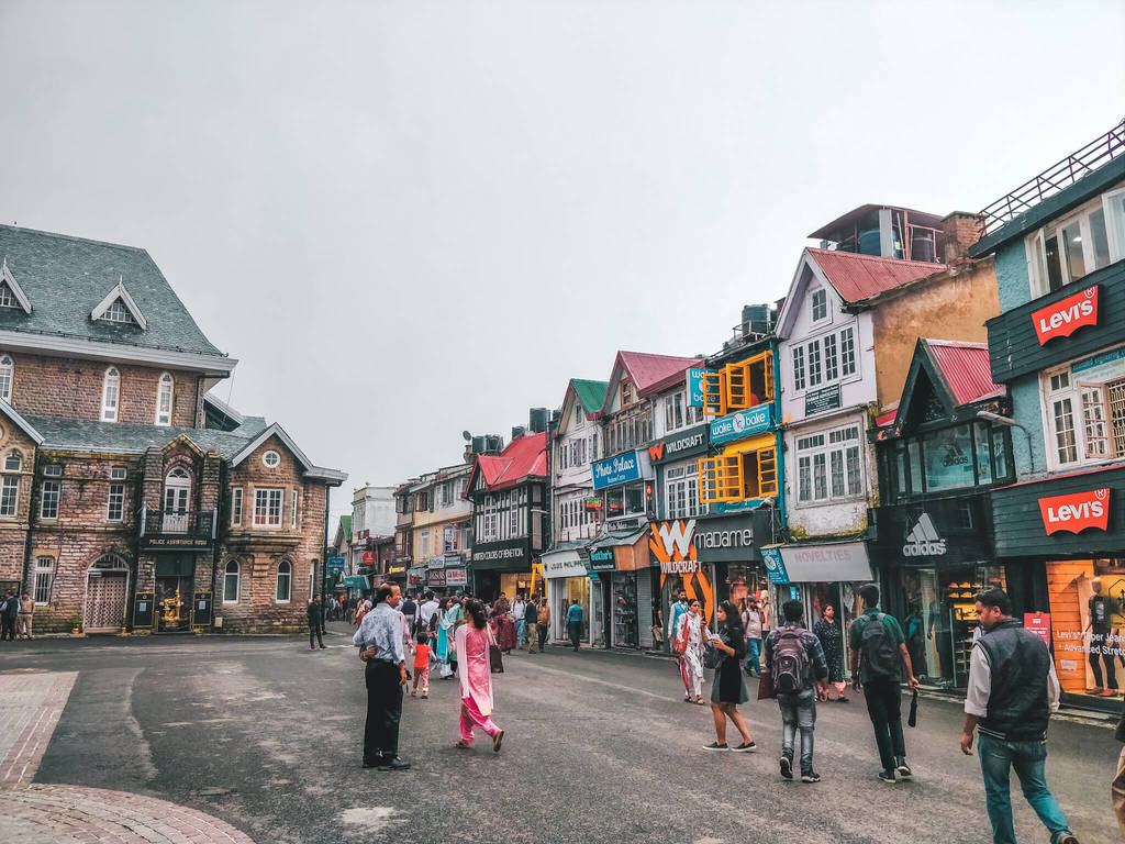 Shopping at Mall Road - One of the most popular things to do in Shimla in this Shimla itinerary and travel guide
