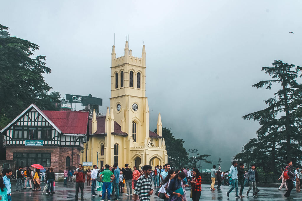 Christ church in Shimla itinerary for one day and Shimla travel guide
