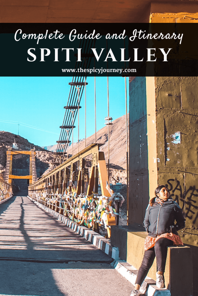 Spiti Valley itinerary for 8 days - Pinterest graphic