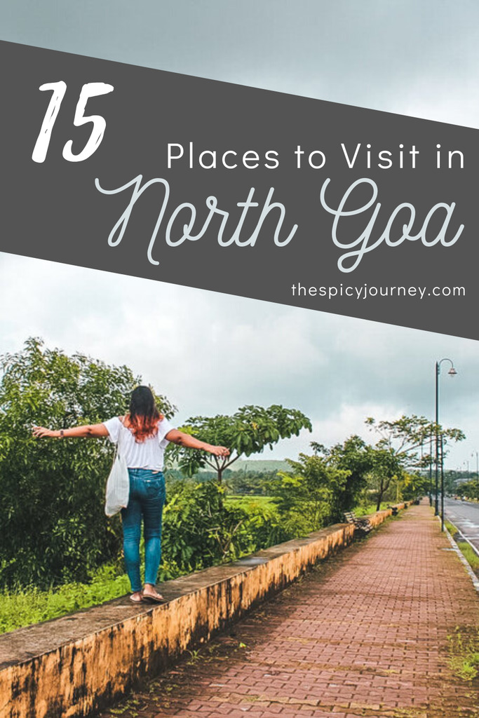 Pinterest graphic for best places to visit in North Goa