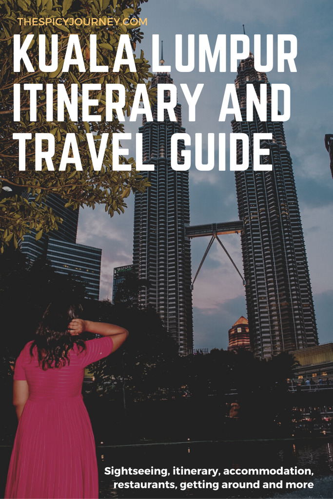 Pinterest graphic for things to do in Kuala Lumpur in 3 days
