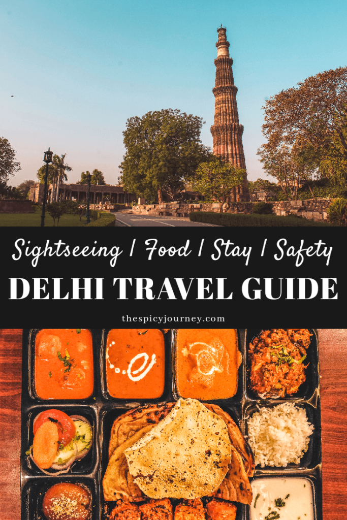 New Delhi Travel Guide - pinterest graphic