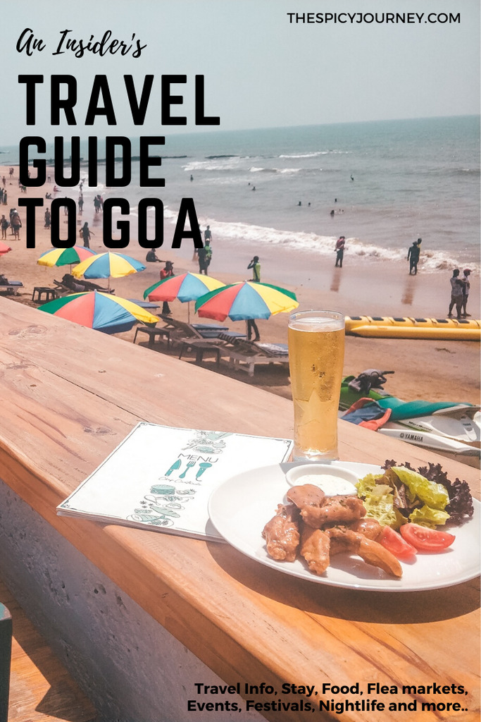 Pinterest graphic for travel guide to Goa