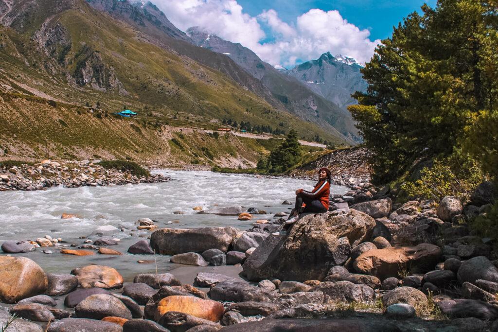 Delhi to Chitkul, Himachal Pradesh - Baspa river