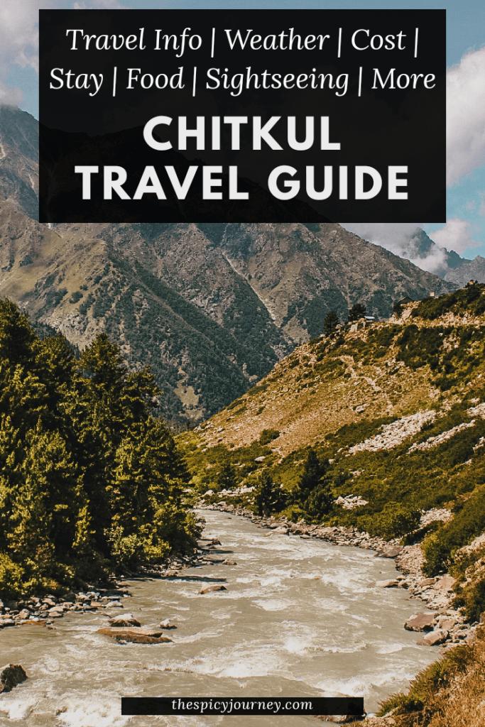 Delhi to Chitkul Village, Himachal Pradesh - Pinterest Graphic