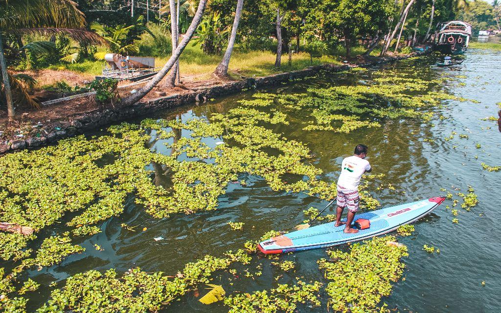 Kayaking in Alleppey backwaters, Alleppey, Kerala, India