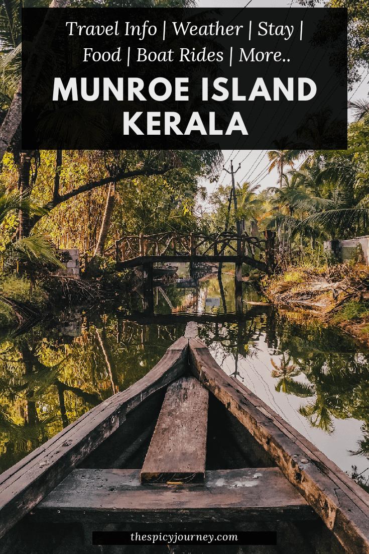 Munroe island Kerala pinterest graphic