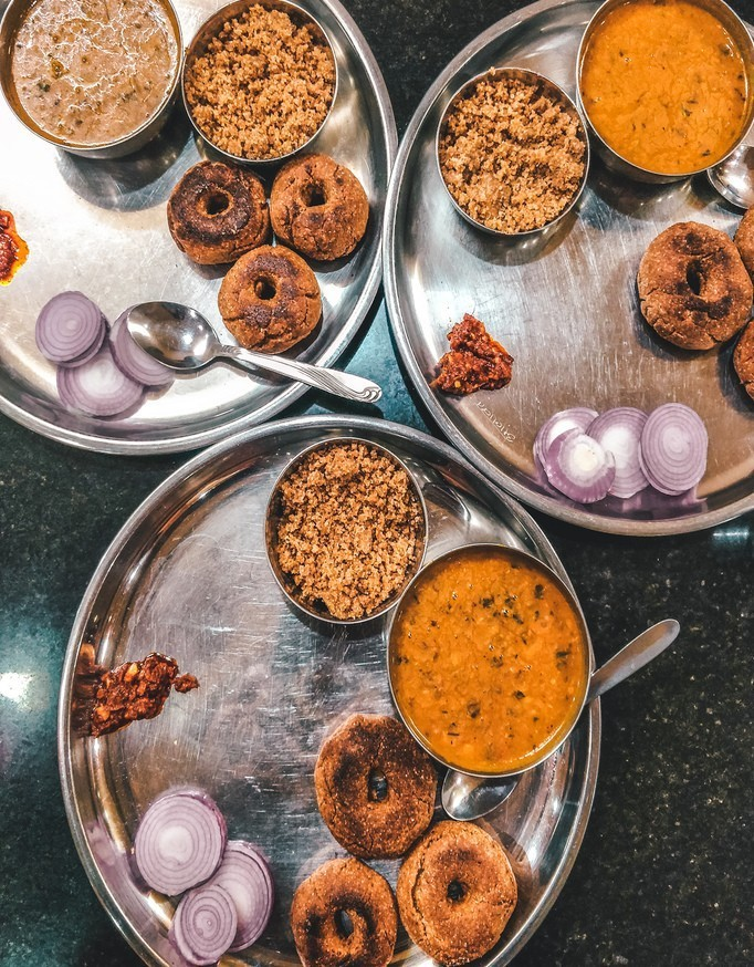 Rajasthan local food - Daal baati churma