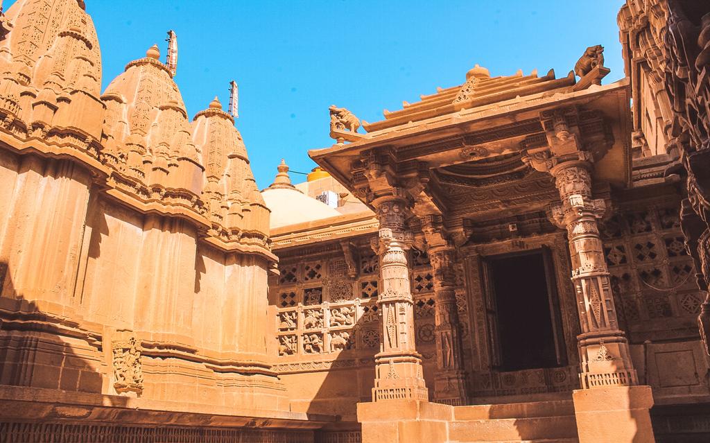 Jain temple on day 1 of Jaisalmer itinerary