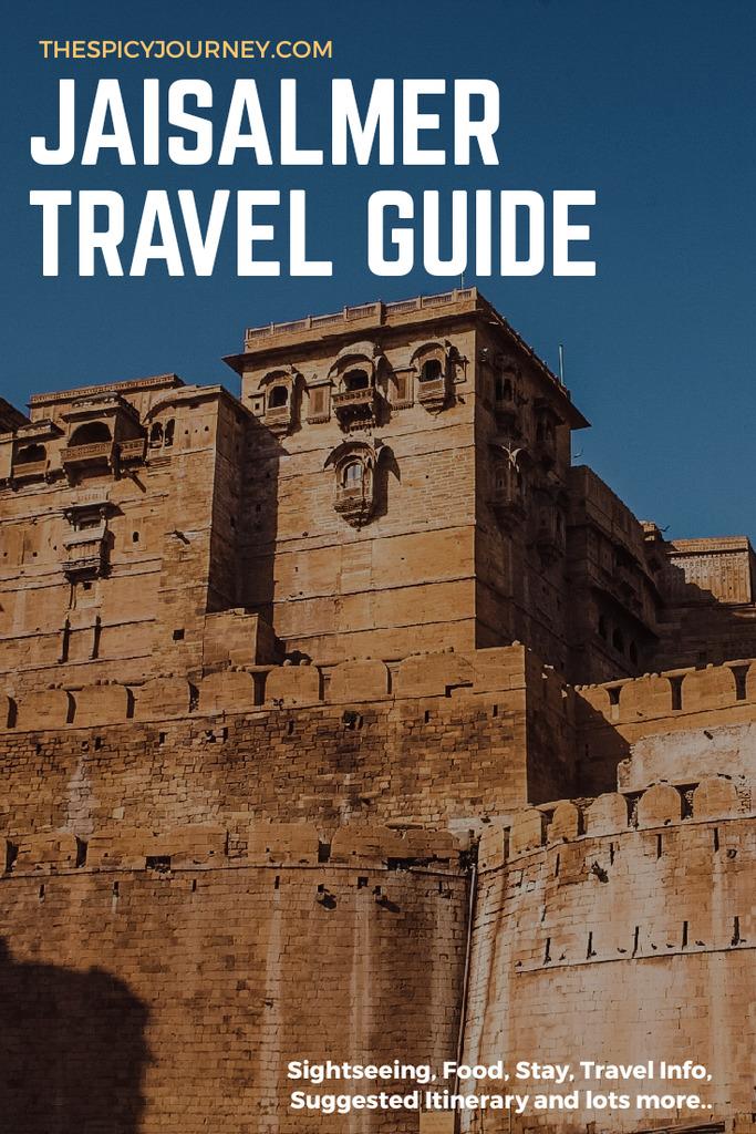 Pinterest graphic for Jaisalmer itinerary for 2 days & Jaisalmer travel guide