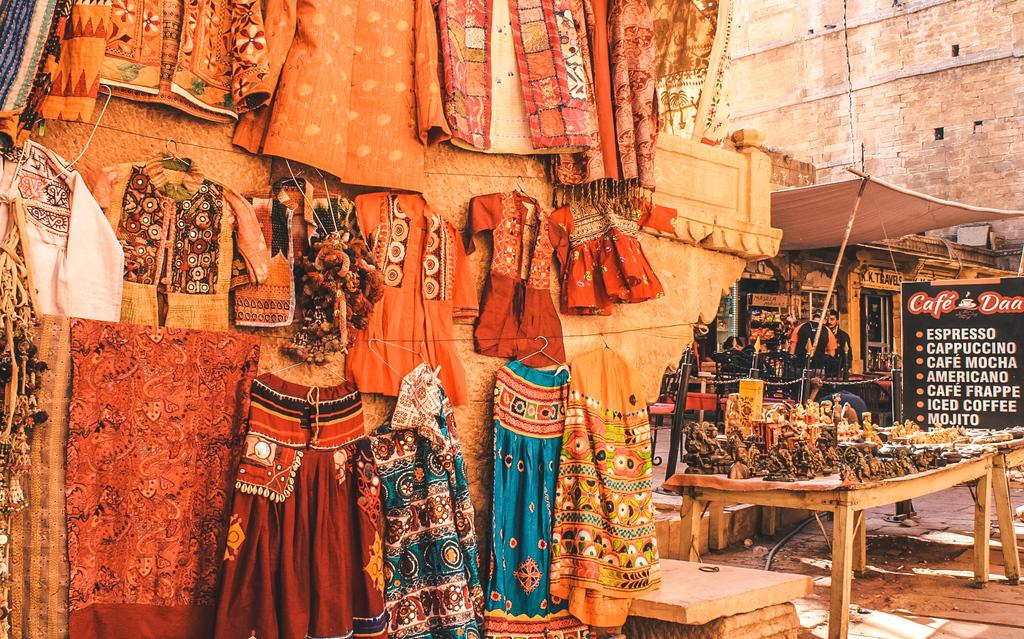 Shopping inside the Jaisalmer fort on day 1 of Jaisalmer itinerary