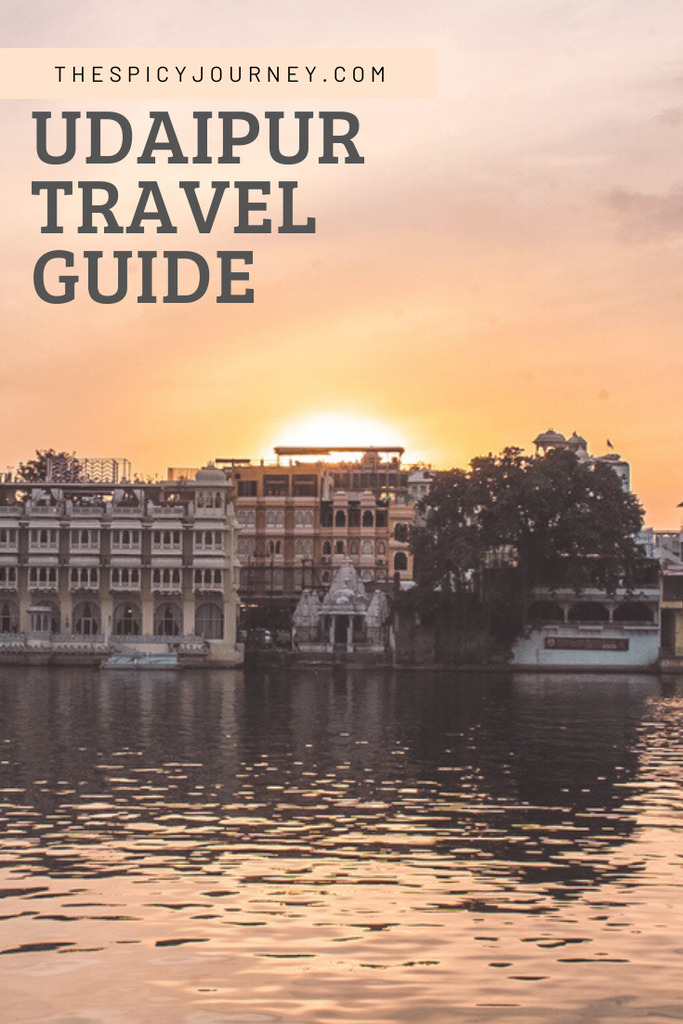Pinterest graphic for Udaipur travel guide