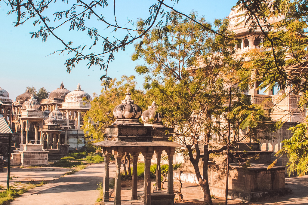 Royal cenotaphs in places to visit in Udaipur in 2 days & Udaipur travel guide