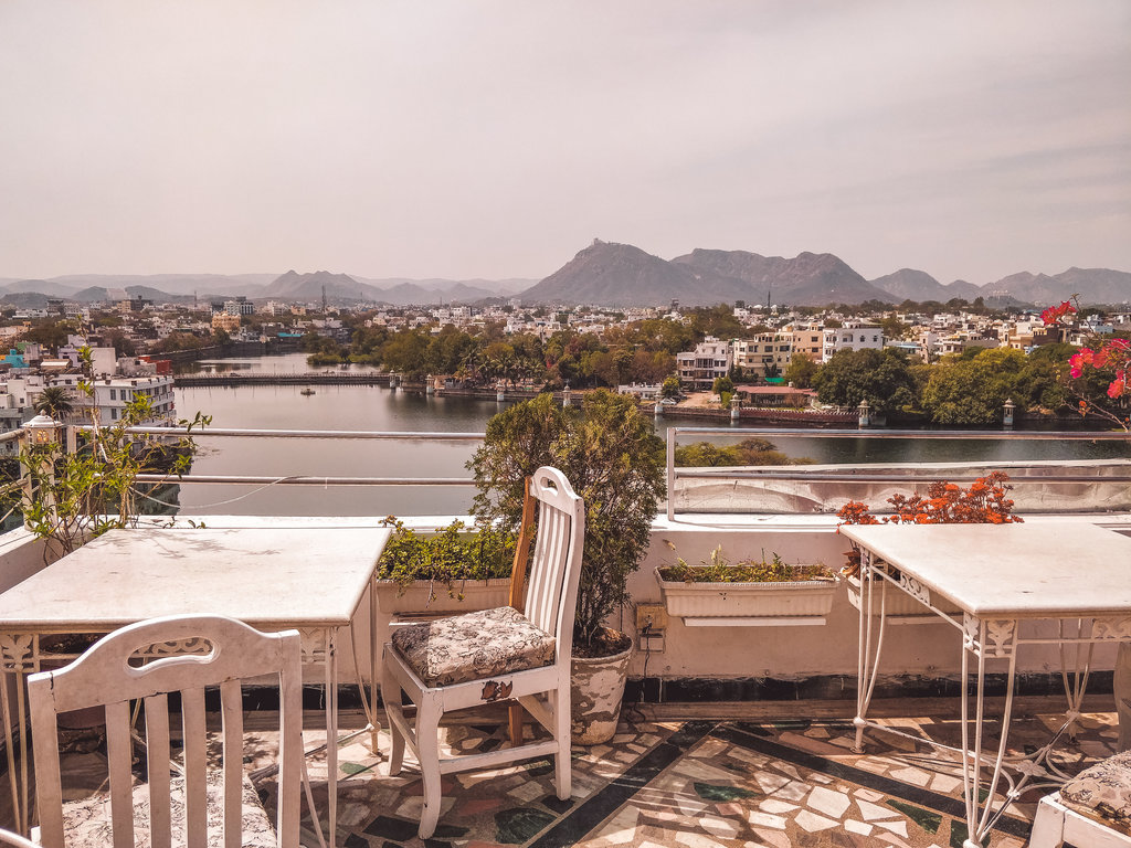 Rooftop at Zostel Udaipur