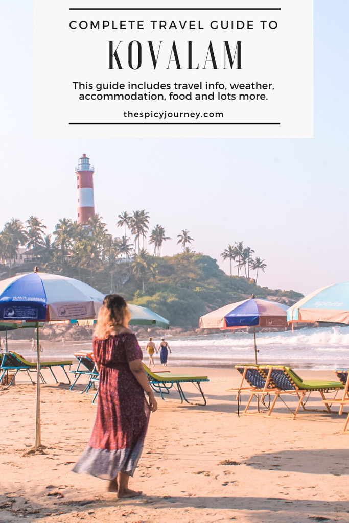 Pinterest graphic for lighthouse beach Kovalam travel guide