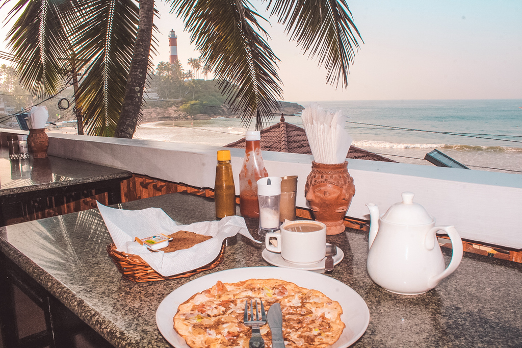 Where to eat at lighthouse beach - German Bakery Kovalam