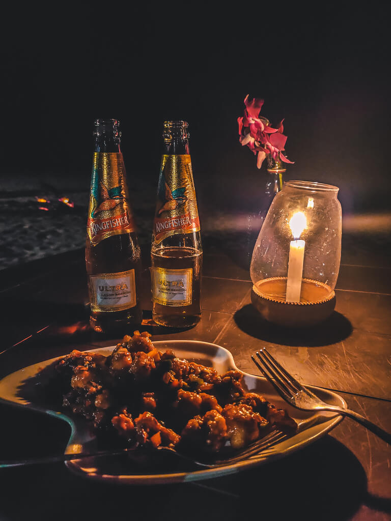 agonda-beach-goa-romatic-dinner