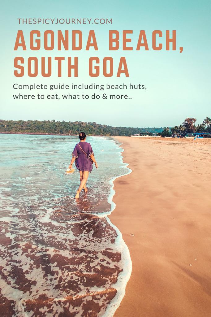 Agonda beach huts, Goa pinterest graphic