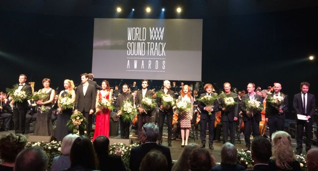 Winners take the stage at the WSA 2014