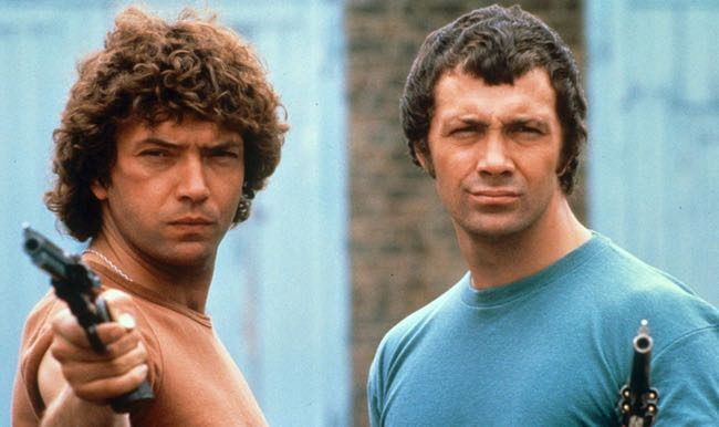 Shaw, left, with the late Lewis Collins in 'The Professionals'