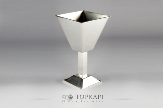 Square simple silver plated incense burner