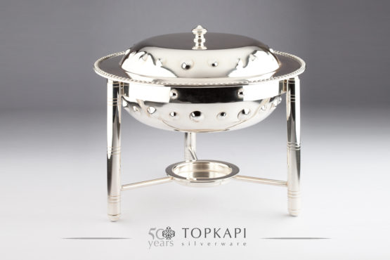 Round Dot Silver plated chafing dish