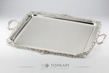 Silver plated classic 'Elizabeth' tray