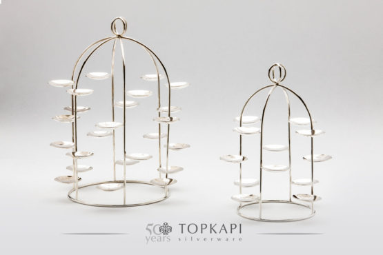 Silver plated Macaron stand