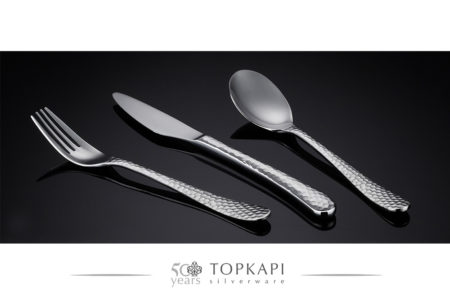 'Hammered' silver plated cutlery