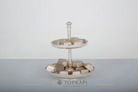 Two level simple pastry or sweets stand