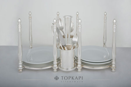 Plate and cutlery stand
