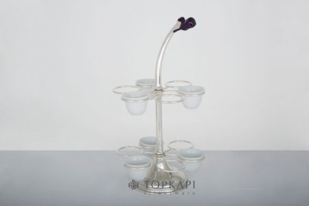 Oriental coffee cup holder (Flower design)