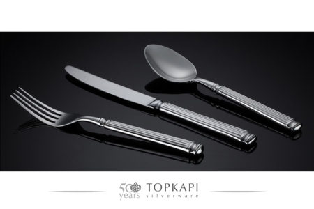 'Stripes' silver plated cutlery design
