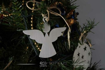 Silver plated angel tree ornament