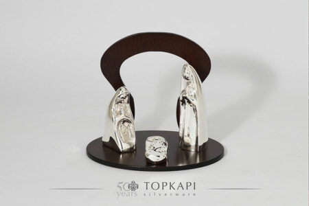 Limited edition silver plated 'Nativity'