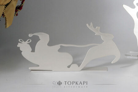 Silver plated Santa's sleigh decorative stand