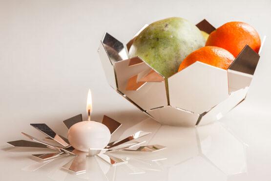 Topkapi-Lucie candle holder and Hexa Bowl