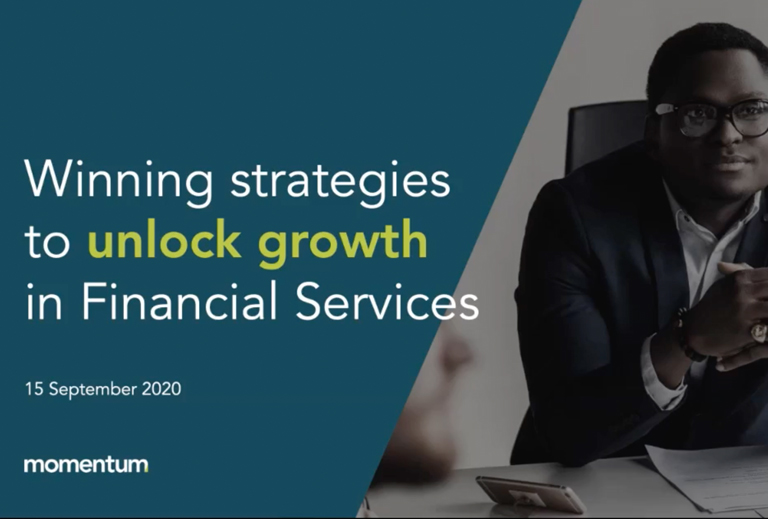 A banner for an event about ABM and financial services