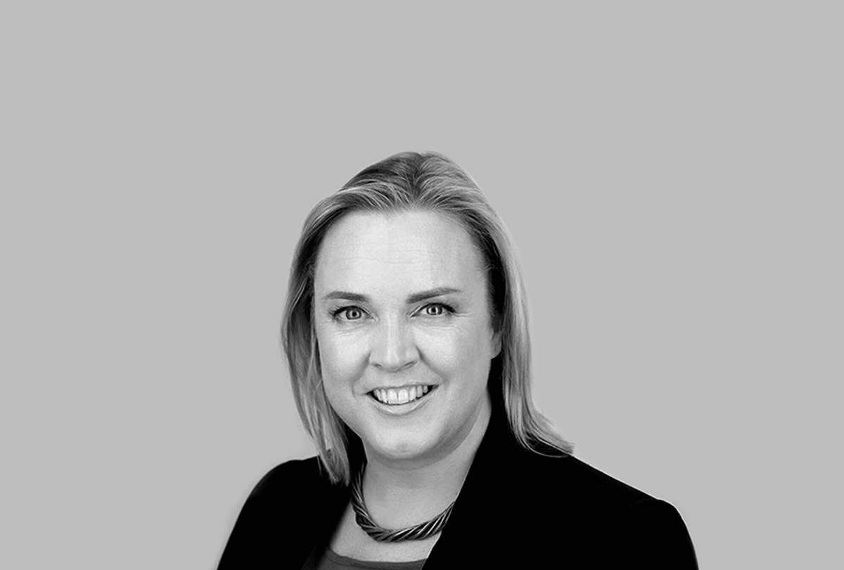 Black and white photo of Antonia Wade, Chief Marketing Officer at Capita