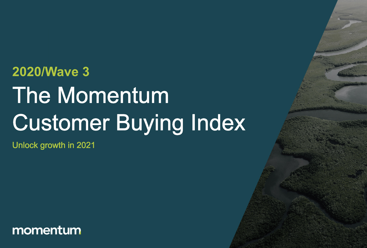Cover for the third wave of the Momentum Customer Buying Index