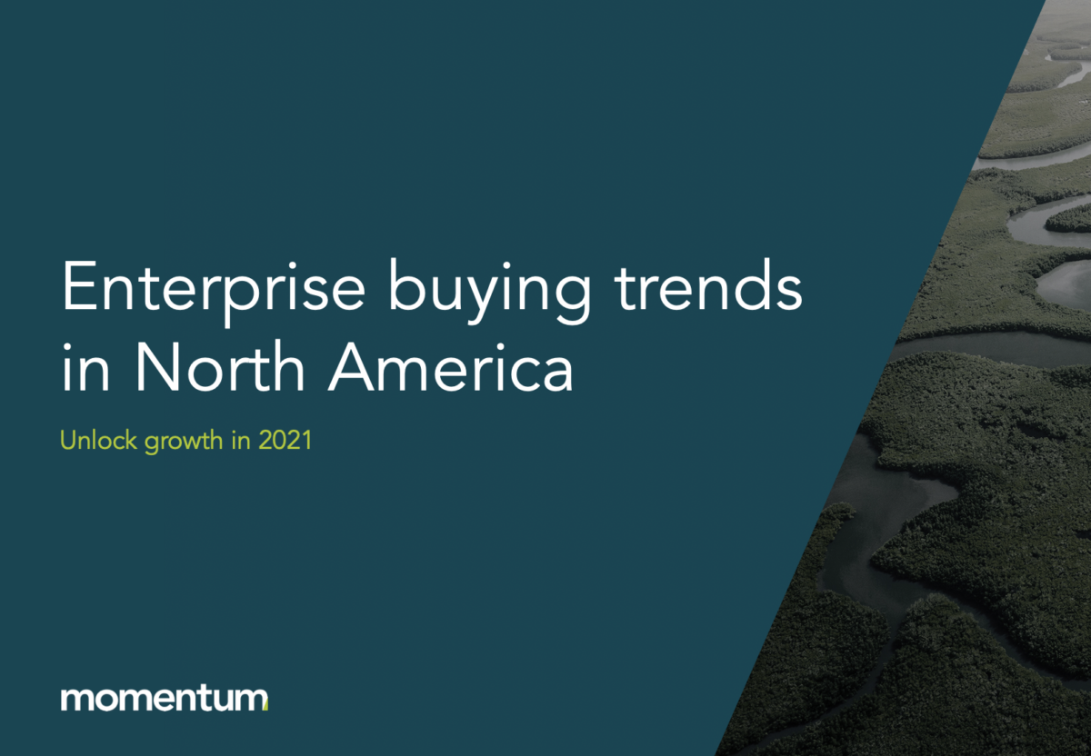 A banner about buying trends in North America