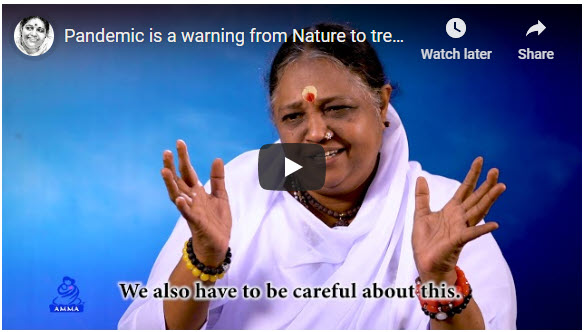 Amma - Pandemic is a warning from Nature