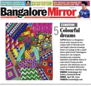 Bangalore Mirror Listing April 2016
