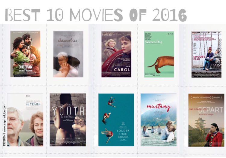 Best Movies of 2016, top ten movies of 2016