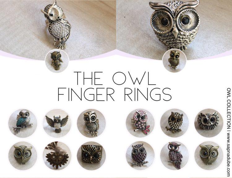 Owl jewelry, owl rings,