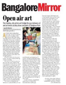 Open Air Art - Bangalore Mirror