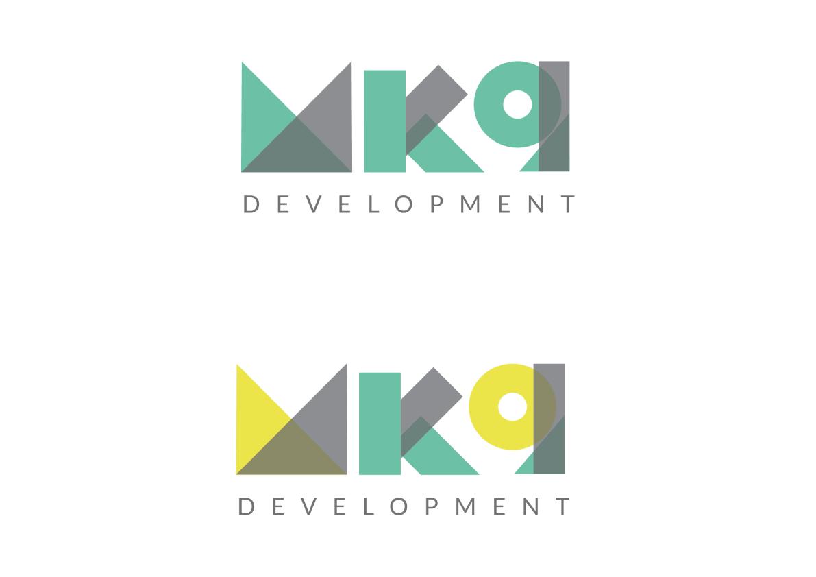 MK9 Logo Design Block Type colour