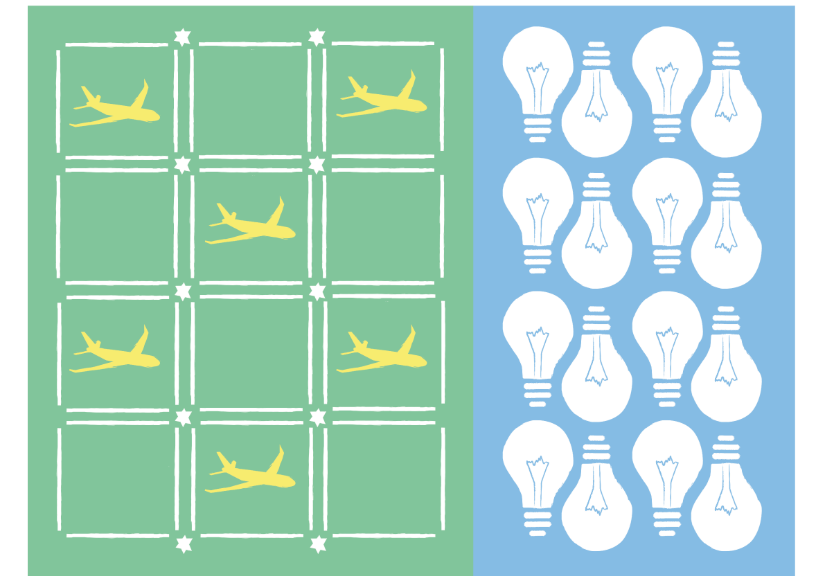 Patterns, travel and lightbuld